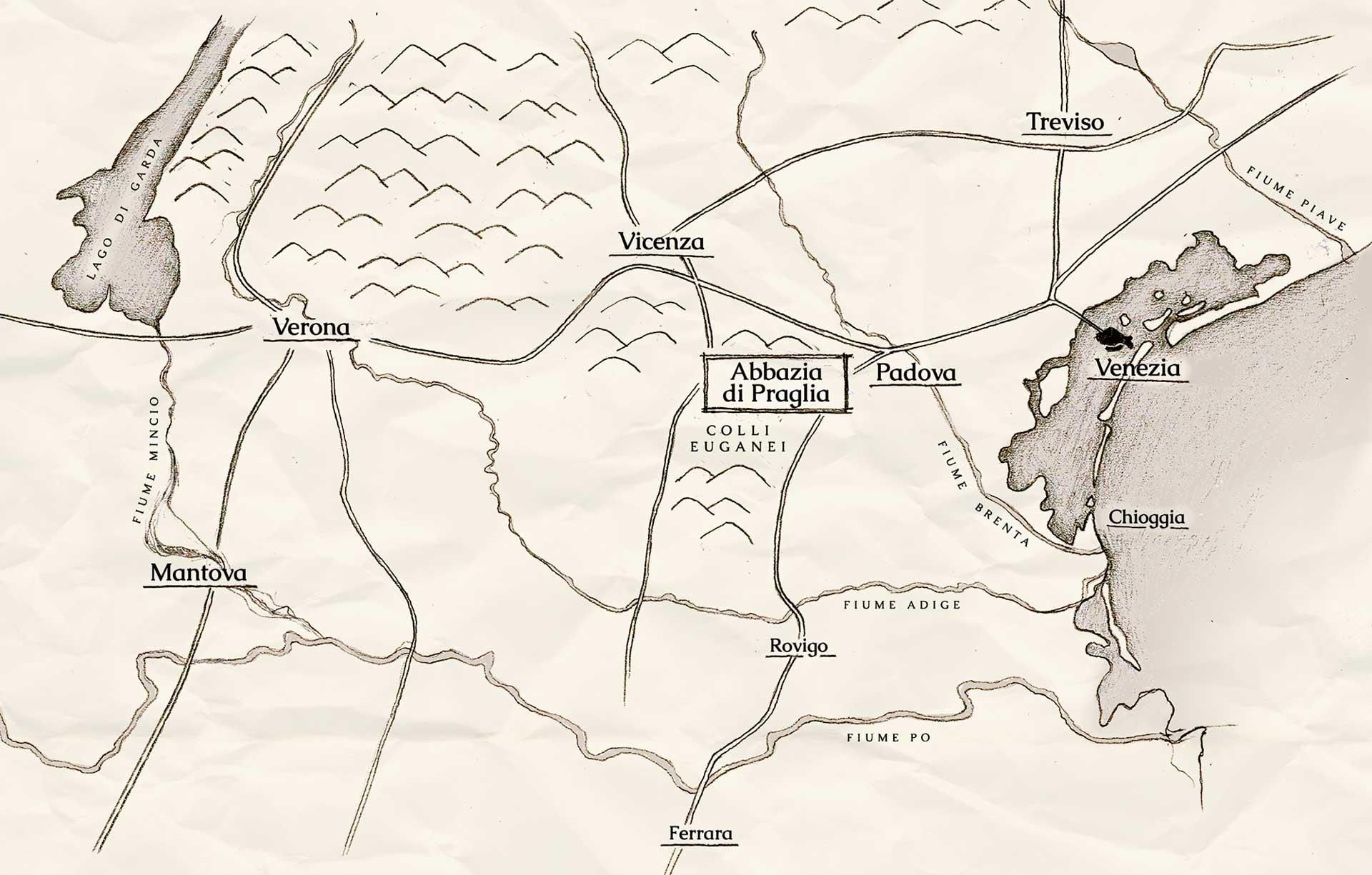 mappa-abbazia-di-praglia